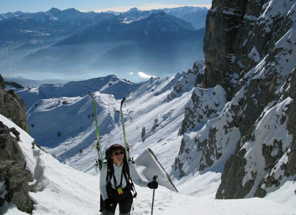 Le ski de Randonnée à Réallon